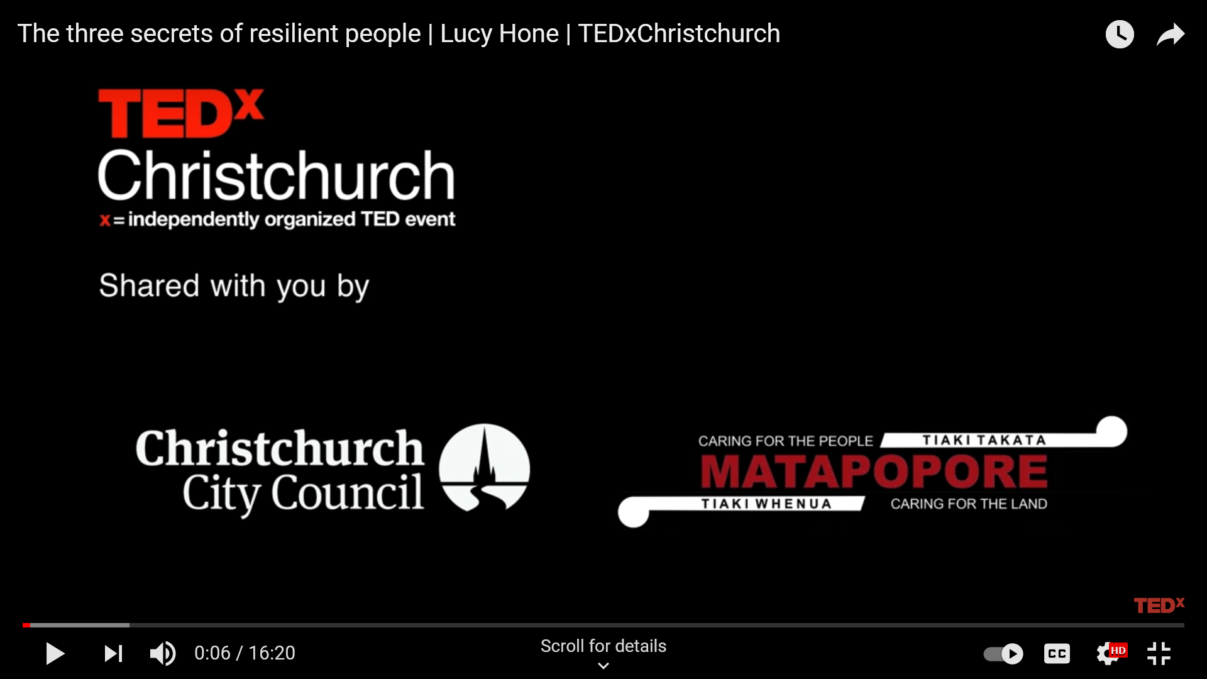 The three secrets of resilient people Lucy Hone TEDxChristchurch